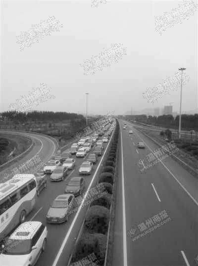 沈海高速公路温瑞段 车辆排队12公里
