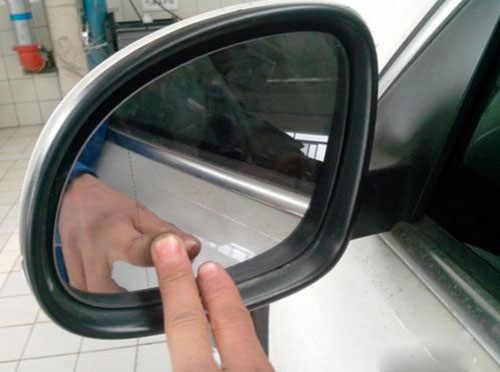大众桑塔纳后视镜拆缷步骤,桑塔纳外后视镜怎么拆