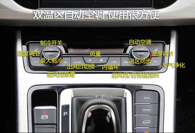 吉利博越空调怎么使用,博越空调开关按钮图解高清图片