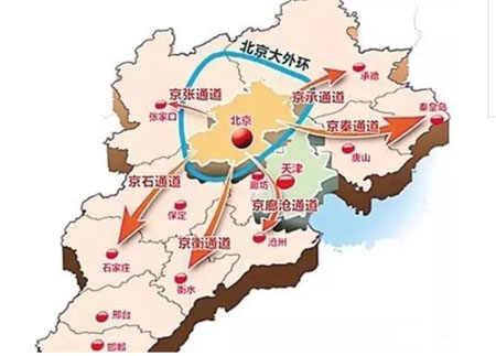 全长约680公里,途经河北省张家口,保定,石家庄,邢台,邯郸,由京蔚段,平