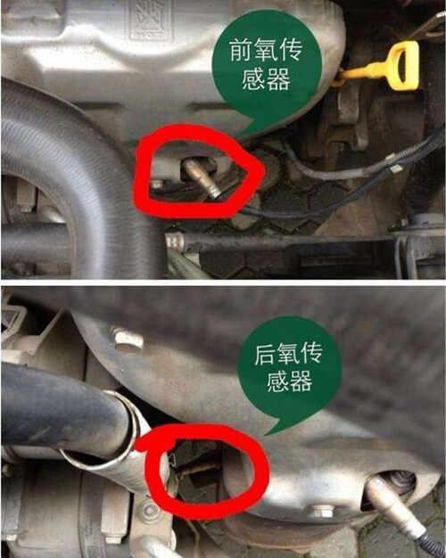 大众捷达氧传感器在哪,捷达氧传感器位置图高清图片
