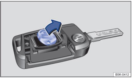 大众高尔夫7钥匙怎么拆,高尔夫7钥匙更换电池高清图片