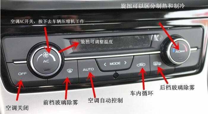 帝豪gl空调使用说明,帝豪gl空调按键使用说明高清图片